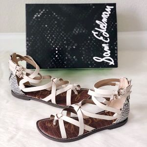 ✨New SAM EDELMAN Gaton Gladiator Leather Sandals